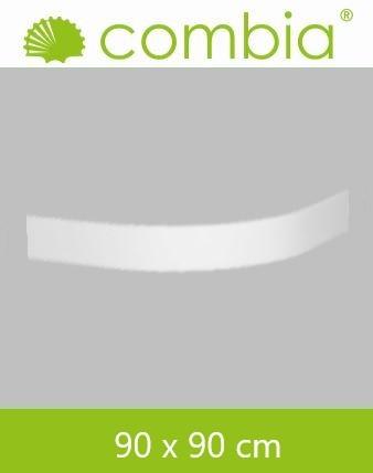 SVSL9090-WS, Duschwannenschürze, weiß, Viertelkreis, 90 x 90cm